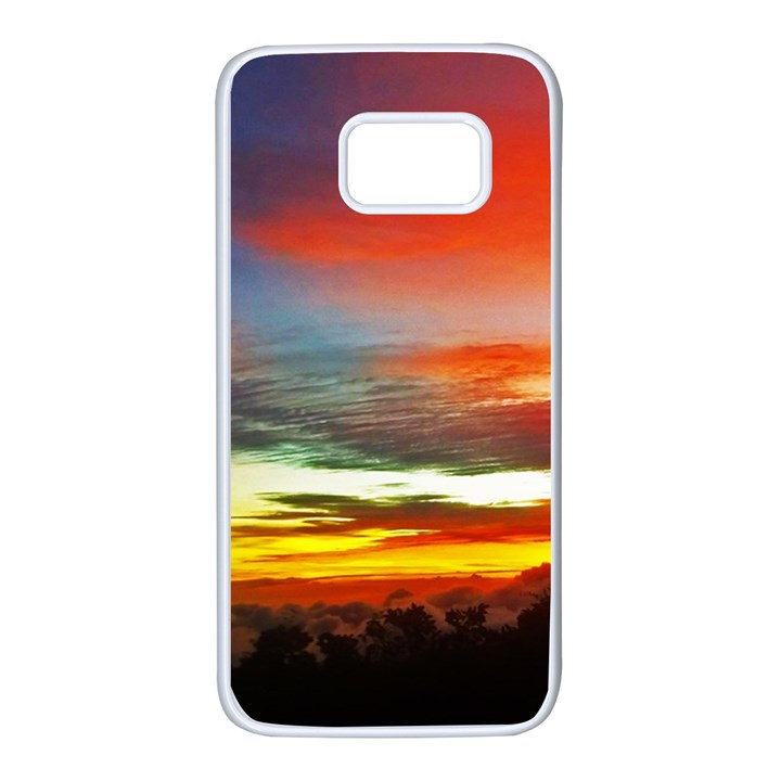 Sunset Mountain Indonesia Adventure Samsung Galaxy S7 White Seamless Case