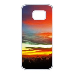 Sunset Mountain Indonesia Adventure Samsung Galaxy S7 edge White Seamless Case