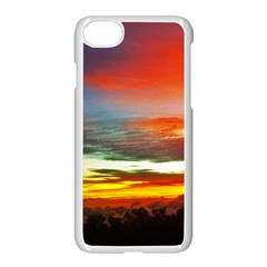 Sunset Mountain Indonesia Adventure Apple iPhone 7 Seamless Case (White)