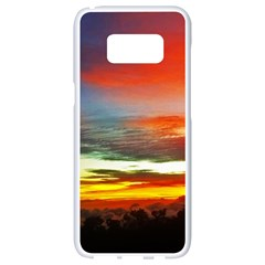 Sunset Mountain Indonesia Adventure Samsung Galaxy S8 White Seamless Case