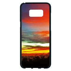 Sunset Mountain Indonesia Adventure Samsung Galaxy S8 Plus Black Seamless Case