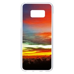 Sunset Mountain Indonesia Adventure Samsung Galaxy S8 Plus White Seamless Case