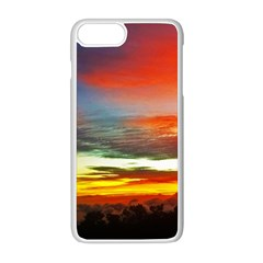 Sunset Mountain Indonesia Adventure Apple iPhone 8 Plus Seamless Case (White)