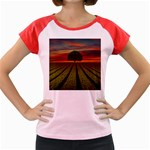 Natural Tree Women s Cap Sleeve T-Shirt Front