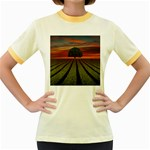 Natural Tree Women s Fitted Ringer T-Shirt Front