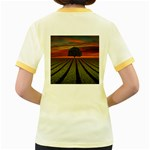 Natural Tree Women s Fitted Ringer T-Shirt Back