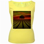 Natural Tree Women s Yellow Tank Top Front