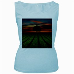 Natural Tree Women s Baby Blue Tank Top