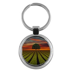 Natural Tree Key Chains (round)