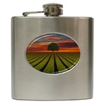 Natural Tree Hip Flask (6 oz) Front