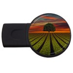 Natural Tree USB Flash Drive Round (2 GB) Front