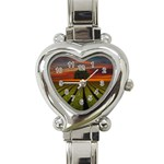 Natural Tree Heart Italian Charm Watch Front