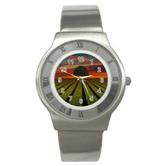 Natural Tree Stainless Steel Watch by Alisyart