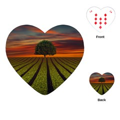 Natural Tree Playing Cards (heart)
