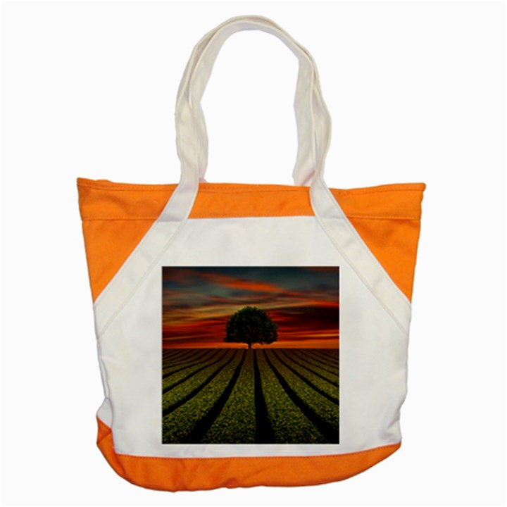 Natural Tree Accent Tote Bag