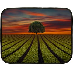 Natural Tree Double Sided Fleece Blanket (mini)