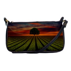 Natural Tree Shoulder Clutch Bag