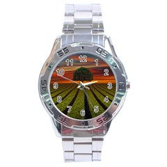 Natural Tree Stainless Steel Analogue Watch