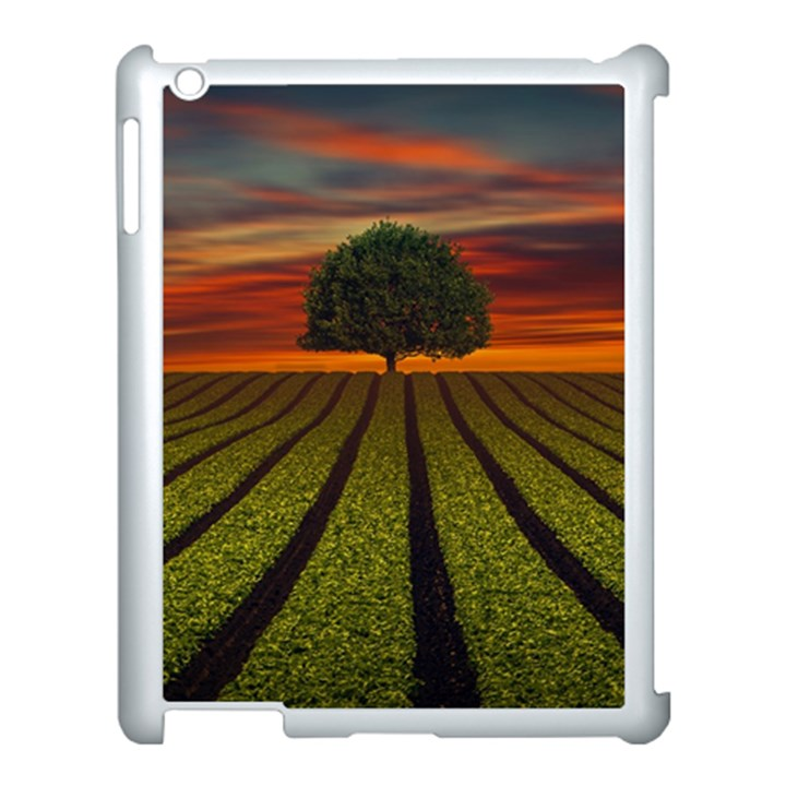 Natural Tree Apple iPad 3/4 Case (White)