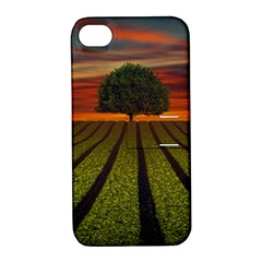 Natural Tree Apple Iphone 4/4s Hardshell Case With Stand by Alisyart