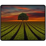 Natural Tree Double Sided Fleece Blanket (Medium)  58.8 x47.4 Blanket Front