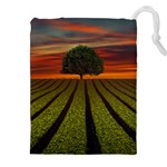 Natural Tree Drawstring Pouch (XXL) Front