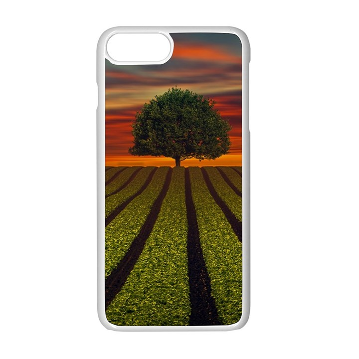 Natural Tree Apple iPhone 8 Plus Seamless Case (White)