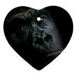 Gorilla Monkey Zoo Animal Ornament (Heart) Front