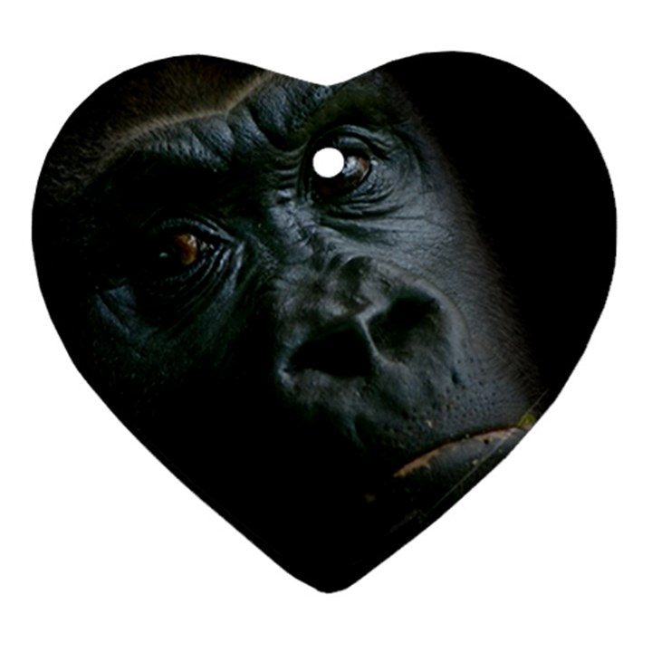 Gorilla Monkey Zoo Animal Ornament (Heart)