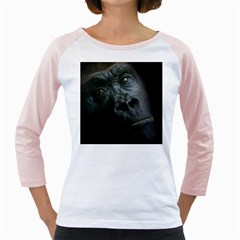 Gorilla Monkey Zoo Animal Girly Raglan