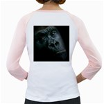 Gorilla Monkey Zoo Animal Girly Raglan Back