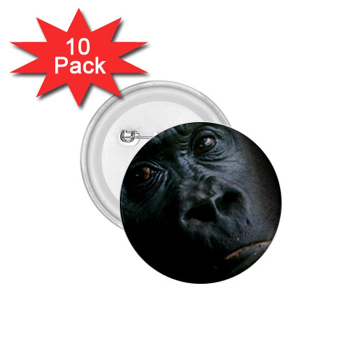 Gorilla Monkey Zoo Animal 1.75  Buttons (10 pack)