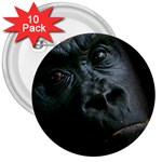 Gorilla Monkey Zoo Animal 3  Buttons (10 pack)  Front