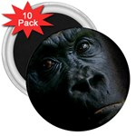 Gorilla Monkey Zoo Animal 3  Magnets (10 pack)  Front