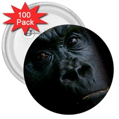 Gorilla Monkey Zoo Animal 3  Buttons (100 pack)