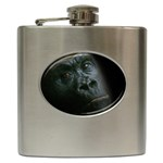 Gorilla Monkey Zoo Animal Hip Flask (6 oz) Front