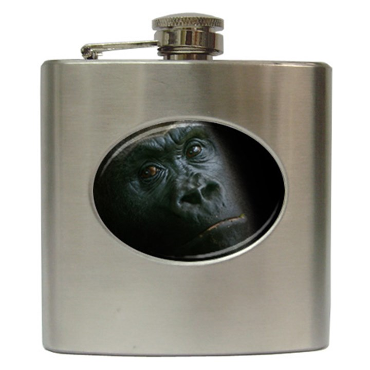 Gorilla Monkey Zoo Animal Hip Flask (6 oz)