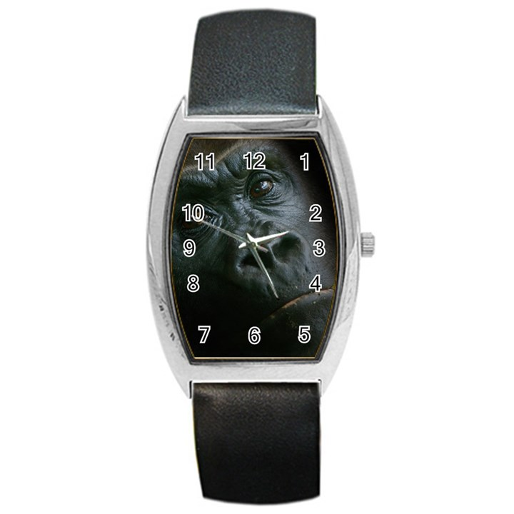 Gorilla Monkey Zoo Animal Barrel Style Metal Watch
