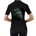 Gorilla Monkey Zoo Animal Women s T-Shirt (Black) (Two Sided) Back