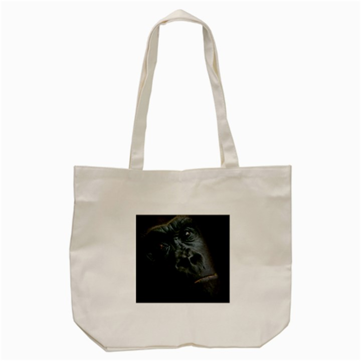 Gorilla Monkey Zoo Animal Tote Bag (Cream)