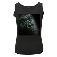 Gorilla Monkey Zoo Animal Women s Black Tank Top