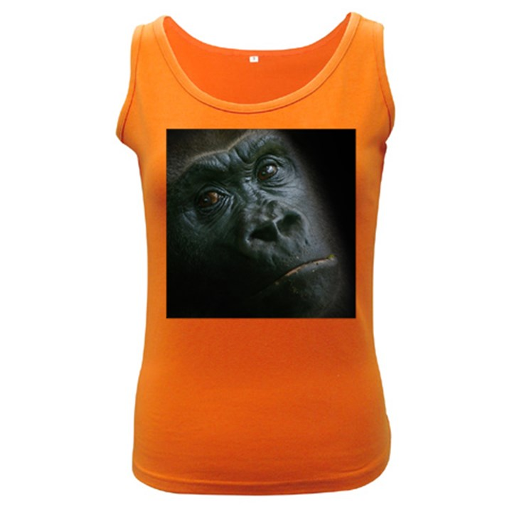 Gorilla Monkey Zoo Animal Women s Dark Tank Top