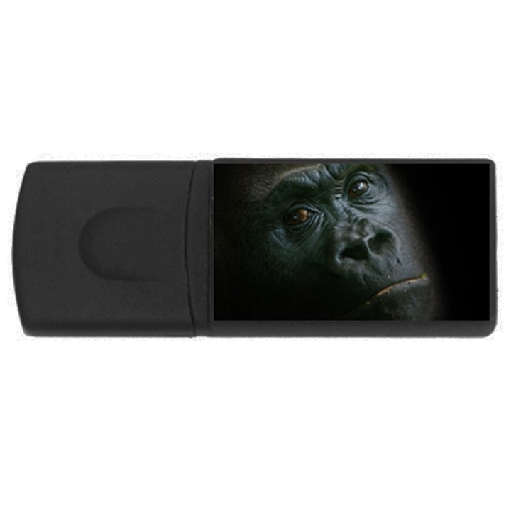 Gorilla Monkey Zoo Animal Rectangular USB Flash Drive