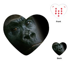 Gorilla Monkey Zoo Animal Playing Cards (heart)