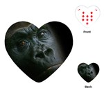Gorilla Monkey Zoo Animal Playing Cards (Heart) Front