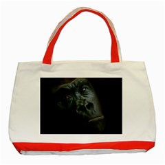 Gorilla Monkey Zoo Animal Classic Tote Bag (Red)