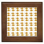 Small Fish Water Orange Framed Tiles Front