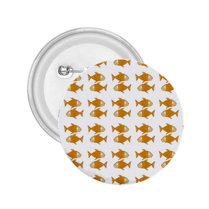 Small Fish Water Orange 2.25  Buttons