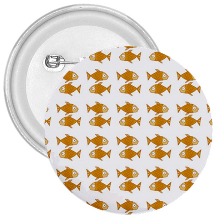 Small Fish Water Orange 3  Buttons