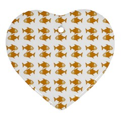 Small Fish Water Orange Ornament (heart)